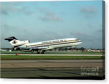 American Trans Air Boeing 727 Taking-off Canvas Print