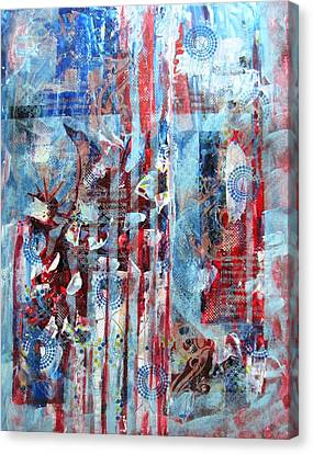 Independance Canvas Print - American Tribute by David Raderstorf