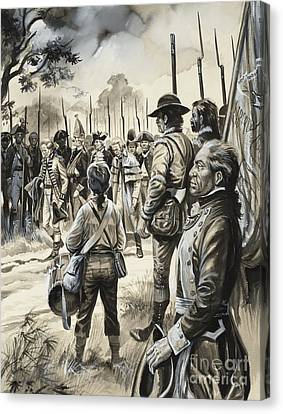 Drummer Canvas Print - American War Of Independence by Gerry Embleton