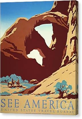 American West Travel 1939 Canvas Print by Padre Art