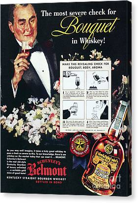 American Whiskey Ad, 1938 Canvas Print by Granger