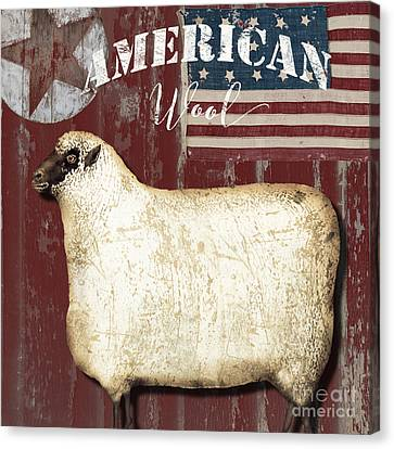 American Wool Canvas Print by Mindy Sommers