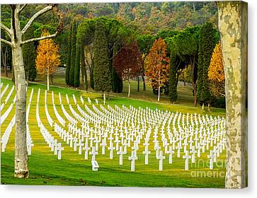 American Ww II Cemetery Canvas Print