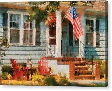 Americana - America The Beautiful Canvas Print by Mike Savad