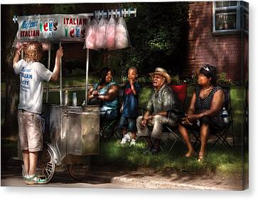 Americana - People - Buying Treats Canvas Print by Mike Savad
