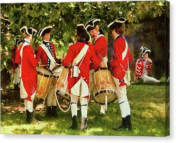 Marching Band Canvas Print - Americana - People - Preparing For Battle by Mike Savad