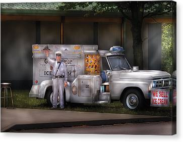 Americana -  We Sell Ice Cream Canvas Print by Mike Savad