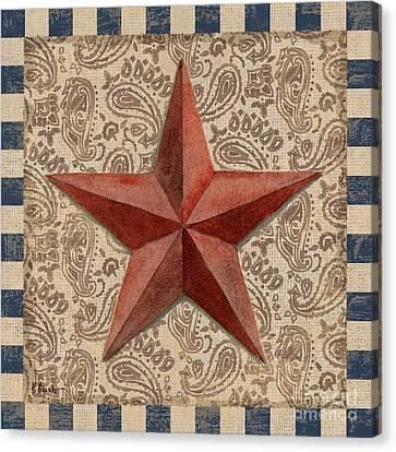 Americana Barn Star I Canvas Print