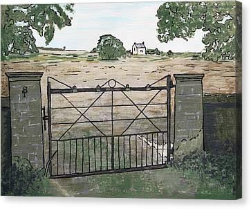 Americana No.7 Gate No.8 Canvas Print