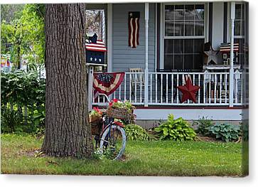 Americana On Main Street Canvas Print by Michiale Schneider