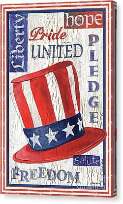 Democracy Canvas Print - Americana Patriotic by Debbie DeWitt