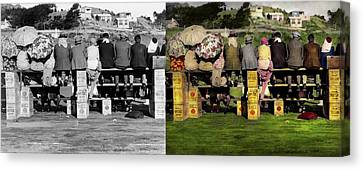 Americana - People - A Well Oiled Game 1932 - Side By Side Canvas Print by Mike Savad