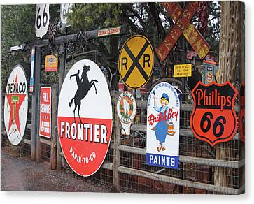 Canvas Print featuring the photograph Americana Rt.66 by Elvira Butler