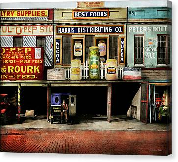 Americana - Signs - Feeding Time 1936 Canvas Print by Mike Savad