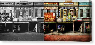 Americana - Signs - Feeding Time 1936 - Side By Side Canvas Print by Mike Savad