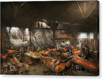 Americana - The Creation Of Liberty - 1882 Canvas Print by Mike Savad
