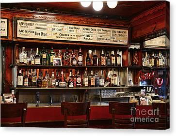 Americana - The Old Man Bar Canvas Print by Paul Ward