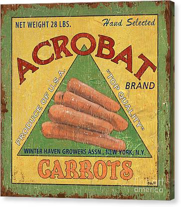 Americana Vegetables 2 Canvas Print