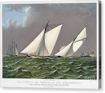 Americas Cup, 1885 Canvas Print by Granger