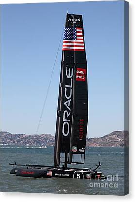 Sanfrancisco Canvas Print - America's Cup In San Francisco - Oracle Team Usa 5 - 5d18246 by Wingsdomain Art and Photography