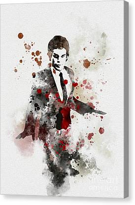 Mystery Canvas Print - America's Favourite Serial Killer by Rebecca Jenkins