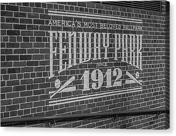 America's Most Beloved Ballpark - Fenway Bw Canvas Print by Susan Candelario