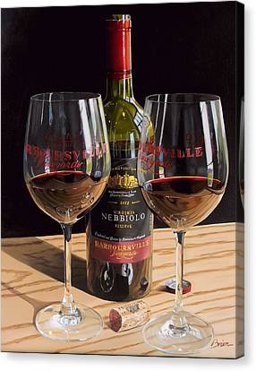 Wine Art Canvas Print - America's Nebbiolo by Brien Cole