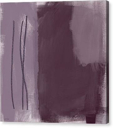 Amethyst 3- Abstract Art By Linda Woods Canvas Print by Linda Woods