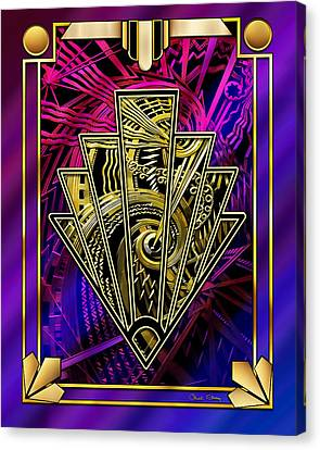 Canvas Print featuring the digital art Amethyst And Gold by Chuck Staley