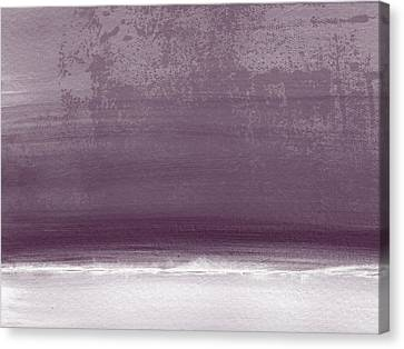 Amethyst Shoreline- Abstract Art By Linda Woods Canvas Print by Linda Woods