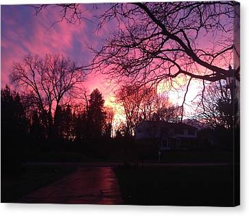 Amethyst Sunset Canvas Print