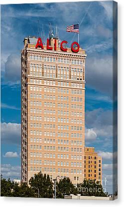 Fire Escape Canvas Print - Amicable Life Insurance Company Building In Downtown Waco Texas by Silvio Ligutti