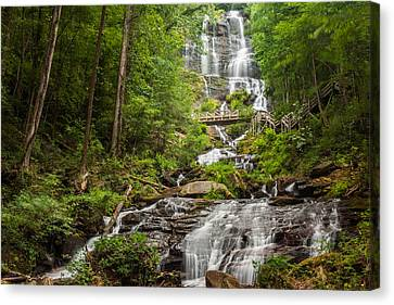 Canvas Print featuring the photograph Amicalola Falls by Michael Sussman
