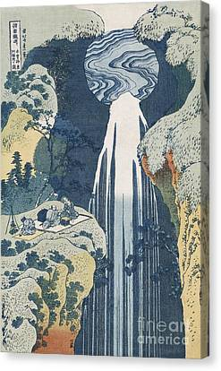Amida Waterfall Canvas Print by Hokusai
