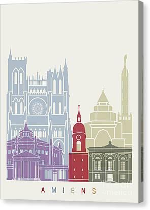 Amiens Skyline Poster Canvas Print