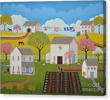 Amish Farms Canvas Print - Amish Afternoon by Mary Charles