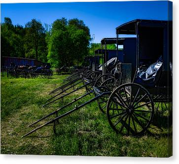 Amish Auction Day Canvas Print by Chris Bordeleau