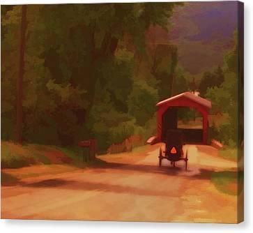 Amish Bridge Canvas Print by John Feiser