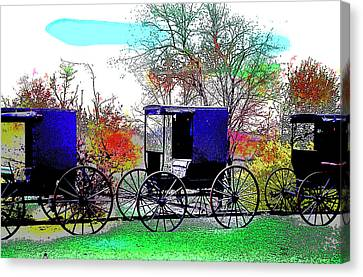 Amish Canvas Print by Charles Shoup