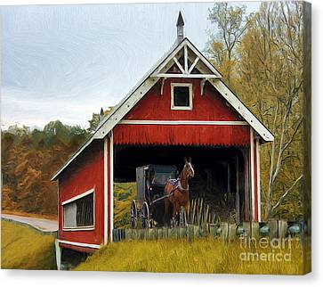 Amish Era Canvas Print by Tom Griffithe
