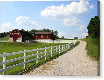 Amish Farm Canvas Print by Gary Bydlo