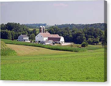 Amish Farm Canvas Print by Joyce Huhra