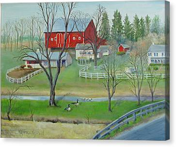 Amish Farm Canvas Print by Oz Freedgood