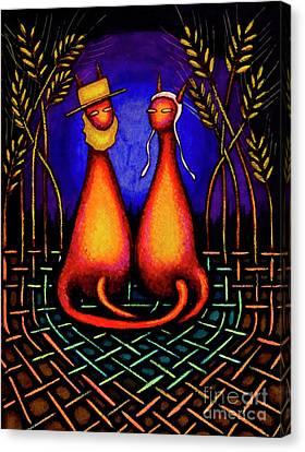 Amish Kats Canvas Print by Laurie Tietjen
