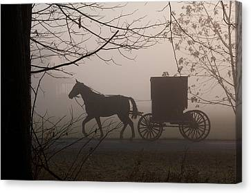 Amish Morning 1 Canvas Print