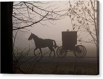 Amish Morning 1 Canvas Print