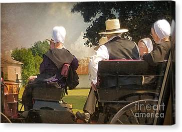 Amish Travelling Canvas Print by Beth Ferris Sale