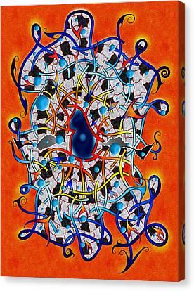 Amistedos V2 - Digital Art Canvas Print by Cersatti