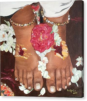 Amma's Feet Canvas Print
