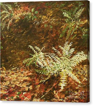 Among The Leaves Canvas Print by Carla Dabney